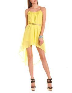 Gold Braid Belted Hi-Low Dress: Charlotte Russe