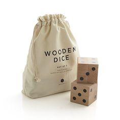 *actual* Man Cave Dice $60 Wooden Yard Dice Game Set