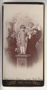 Vintage cabinet photo of Austrian family. Cute!