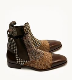 Tweedy paddock boots that would look dashing with jeans and a simple Bamford button down.