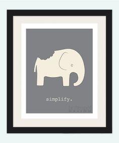 8x10 How Do You Eat An Elephant Wall Art by BritespotDesign, $17.00