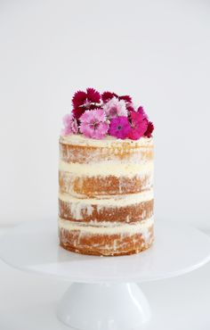 Raspberry and Strawberry Naked Cake