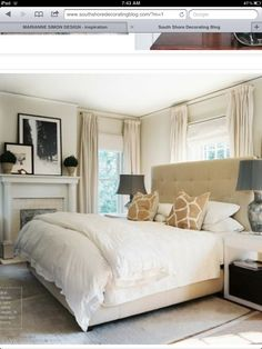 Eclectic Bedroom design ideas and photos to inspire your next home decor project or remodel. Check out Eclectic Bedroom photo galleries full of ideas for your home, apartment or office. Farmhouse Master Bedroom, Home Bedroom, Bedroom Decor, Bedroom Ideas, Calm Bedroom, Serene Bedroom, Bedroom Inspiration, Seaside Bedroom, Airy Bedroom