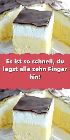 It's so fast you put all ten fingers down! - WordPress-Es ist so schnell du legst alle zehn Finger hin! – WordPress Website It's so fast you put all ten fingers down! Easy Vanilla Cake Recipe, Chocolate Cake Recipe Easy, Homemade Vanilla, Homemade Chocolate, Chocolate Recipes, Chocolate Pastry, Easy Cookie Recipes, Easy Desserts, Dessert Recipes