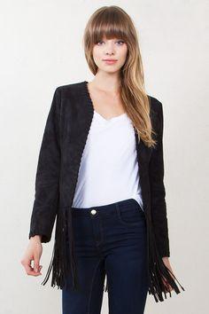 28cbf4dde0a Black Faux Suede Jacket Fashion Styles