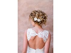 Love the open back, and great updo.