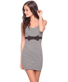 Striped Knit Dress | FOREVER21 -   it has a bow . . . need I say more?