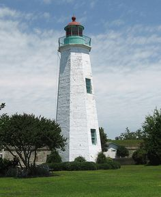 Old Point Comfort Lighthouse at Fort Monroe, Hampton, VA