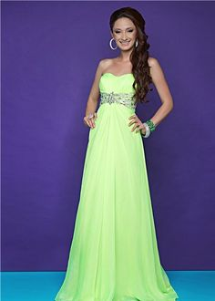 Sexy lime green prom dress! - Blush Prom 9509