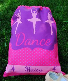Love this Swirl Designs Dance Personalized Drawstring Tote by Swirl Designs on #zulily! #zulilyfinds