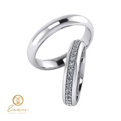 Verighete din aur alb cu diamante ESV9 Aur, Engagement Rings, Jewelry, Enagement Rings, Wedding Rings, Jewlery, Jewerly, Schmuck, Jewels