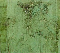 'Studio di cavaliere', huile de Paolo Uccello (1397-1475, Italy)