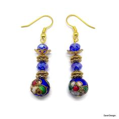 A personal favorite from my Etsy shop https://www.etsy.com/listing/240742245/blue-cloisonne-beads-earrings