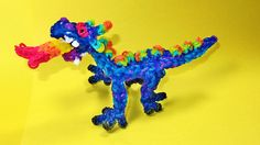 Rainbow Loom DRAGON. (Fire Breathing). Designed and loomed by DIY Mommy. Click on photo for YouTube tutorial. 03/12/14