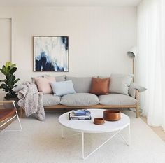Jardan furniture, curtains to ceiling, warm white walls Home Living Room, Apartment Living, Living Room Designs, Living Room Decor, Living Room Inspiration, Home Decor Inspiration, Jardan Furniture, Scandinavian Living, Home And Deco
