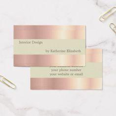 #elegant - #Rose Gold Satin Look Minimalist Elegant Profession Business Card