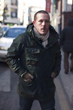 "Scott ""The Sartorialist"" Schuman in a Barbour To-Ki-To jacket"
