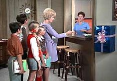 The Brady Bunch TV Show  1st season when bradys got a pay phone in the house- Bing Images