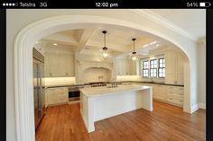 Kitchen Arch Archway Molding, Moldings, Light Kitchen Cabinets, Oven Hood,  Kitchen Ideas