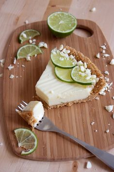 white chocolate key lime pie -- Hurrah! A key lime pie that doesn't involve sweetened condensed milk!