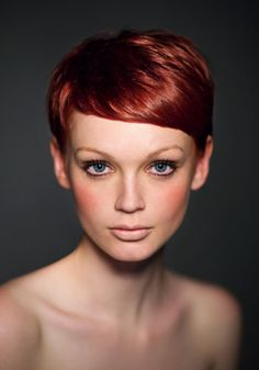 Careful, one of these days I'm gonna just show up with red hair and a pixie cut. Red Pixie Cuts, Short Hair Cuts, Short Hair Styles, Love Hair, Great Hair, Pixie Hairstyles, Pretty Hairstyles, Casual Hairstyles, Pixie Haircuts