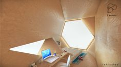 The Tetra Shed by Innovation Imperative addresses the ever growing trend of the home office. It offerss an alternative to what has been the past norm, of giving Shed Office, Backyard Office, Modern Backyard, Home Office Space, Bureau Design, Origami, Innovation, Cladding Materials, Tiny House Cabin