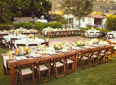 long wooden tables for weddings - Google Search