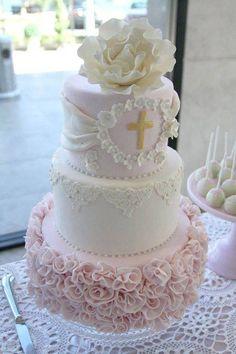 flores para tortas de primera comunion de niña 2