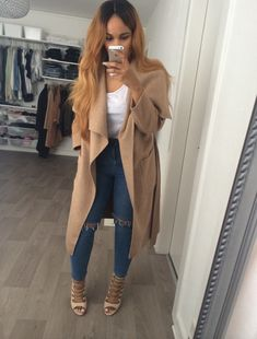 OM Waterfall Trench Coat (available at Outfit Made) Slit Knee Slim Pants (available at Outfit Made) Casual Outfits, Cute Outfits, Fashion Outfits, Womens Fashion, Fashion Trends, Curvy Fashion, Daily Fashion, Fall Winter Outfits, Autumn Winter Fashion