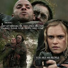 """#The100 2x13 """"Resurrection"""" - Lincoln and Clarke"""