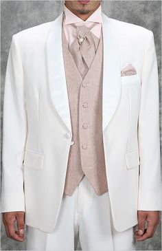 2013 New arrival and Shawl Lapel White Tuxedos 100% Wool Prom /wedding Suit  for men 4 peices set (jacket+pants+tie+vest) on on Suzhou Itailor wedding Ltd. $159.00