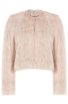 RED VALENTINO Faux Fur Jacket. #redvalentino #cloth #jackets