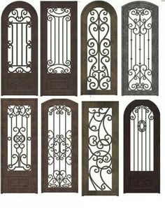 Wrought iron doors are indeed a style from the past. With creativity, you can make your house look more sophisticated with the wrought iron front doors.Top Amazing design ideas of wrought iron doorsThink garden quilt viewed thru one of these gates! Wrought Iron Decor, Wrought Iron Gates, Iron Windows, Iron Doors, Iron Front Door, Window Grill Design, Buch Design, Front Door Design, House Doors