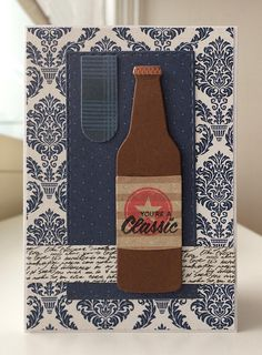 Tag card drink beer bottle MFT soda pop bottles Die-namics MFT-764, banner element from MFT Blueprints 31 Die-namics MFT Soda Pop stamp set #mftstamps  Echo Park Getaway paper pad - JKE