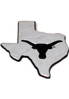 Texas Longhorns Car Emblem- Texas Chrome Texas Shaped Auto Emblem http://www.rallyhouse.com/shop/texas-longhorns-texas-longhorns-state-shaped-car-emblem-7020033?utm_source=pinterest&utm_medium=social&utm_campaign=Pinterest-TexasLonghorns $19.95