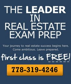 The Best Instructors. The Most Resources. Get the Tools You Need to Ace the Real Estate License Exam and the Mortgage Broker Exam - http://www.realestateprep.ca