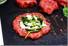 Feta spinach burger