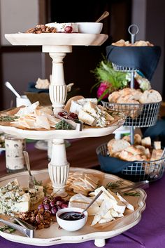 Artisan cheese platter, with jam! Check out some unique jam & herb pairings on annapolisriviera.blogspot.ca
