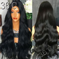 78.40$  Watch now - http://ali7yp.worldwells.pw/go.php?t=32759302724 - Best Glueless Lace Front Wigs With Baby Hair Middle Part Brazilian full lace wig body wave Virgin Human Hair wavy Full lace wig 78.40$