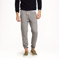 Recent trend - Slim sweatpants. These are from J.Crew.