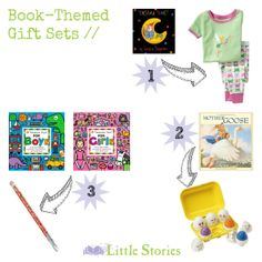 Wonderful idea for toddlers and preschoolers - put together a book-themed gift set! Easy and perfect for the non-crafty (or super busy) mom who wants to give a 'homemade' gift.