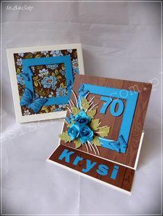 70 niebieska - Papierowe wariacje Asiola