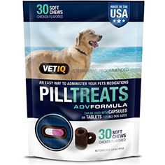 VetIQ Pill Treats Soft Chews for Dogs, Chicken Flavor @@@ If you want to know more, click on the image. (This is an affiliate link and I receive a commission for the sales)