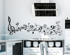 Ebre Vinyl Adhesive Vinyl Decor Musical Notes