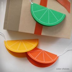 Citrus Slice Gift Tags