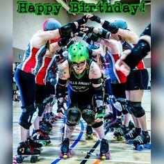 Happy Birthday to the one and only Knuckleduster Nat! @natknuckles #wearehard #hullsangels #hullsangelsrollerdames #rollerderby #happybirthday #instagramvirgin by hullsangels