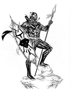 Black Panther Coloring Pages Of