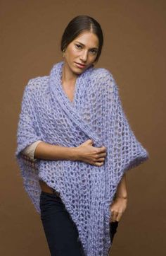 Romantic Speed Hook Shawl-Free pattern-Speed Hook S-35-yarn discontinued, but substitutions suggested.-Beginner