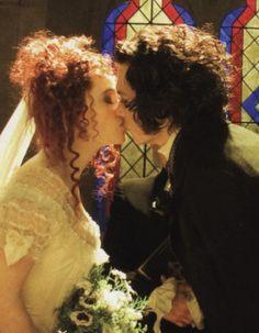 Sweeney Todd...the kiss between Benjamin Barker & Mrs. Lovett