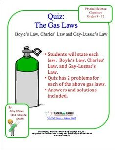 Gas Laws on Pinterest | Homework, Chemistry and Worksheets